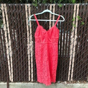 Express Coral lace dress